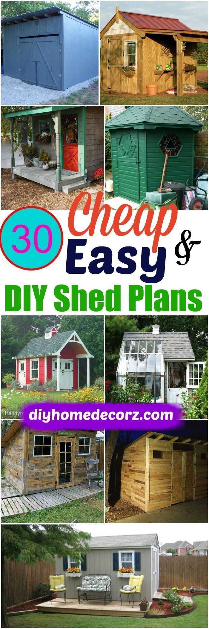 we have brought this collection of #DIY #Shed #Plans that will help you build a beautiful shed of your choice without causing any load on your wallet or pocket!Build A Cheap Storage Shed #buildashedcheap #PortableShedPlan