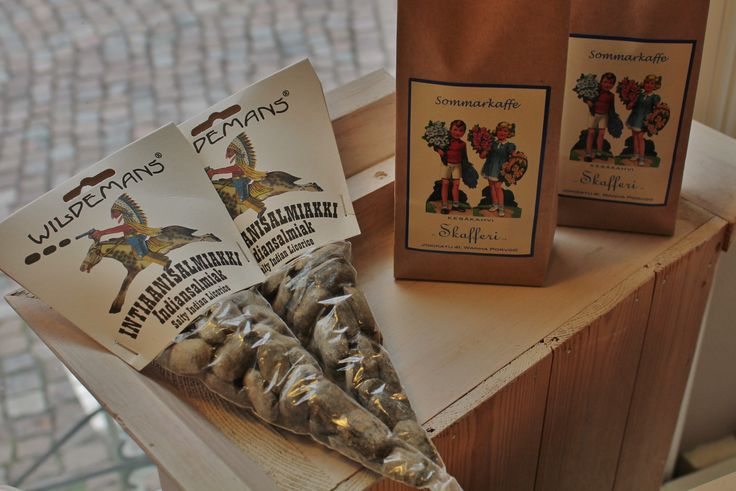 Wildemans salty indian liquorice has a secret ingredient: natural brown sugar. Sommarkaffe makes the perfect blend for a refreshing iced coffee! Don't forget to try Old Porvoo blend in Skafferi, too. www.visitporvoo.fi