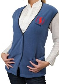 Promotional Products Ideas That Work: Fleece Vest, Snap Closure. Made in Canada. Get yours at www.luscangroup.com