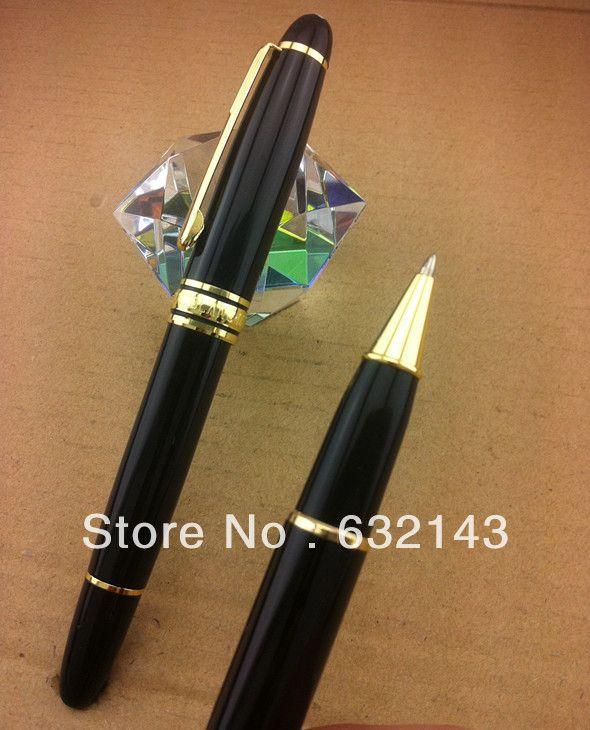 Роскошные ручки высокое качество металла шариковая ручка с Желтый и черный ручка клип Канцелярские офисные и школьные принадлежности A8