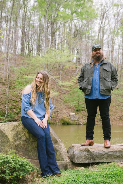 For Chris Stapleton, a Fellow Traveler: His Wife, Morgane - The New York Times