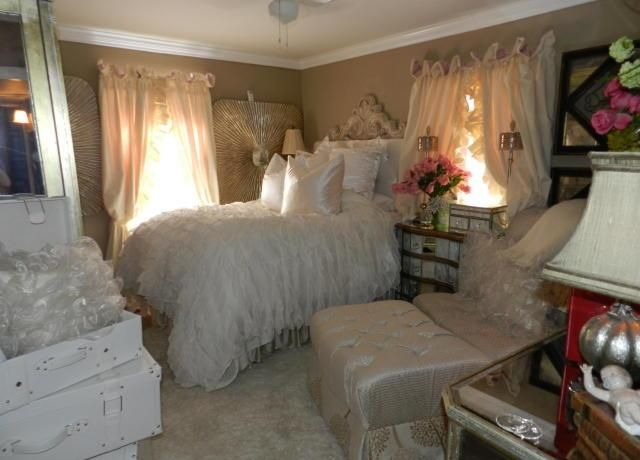 bed furniture too big for the bedroom oversized overstuffed home staging Phoenix Arizona house for sale photo