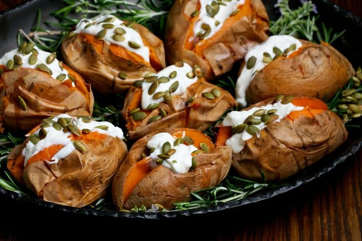 Roasted Sweet Potatoes With Sour Cream + Toasted Pumpkin Seeds - The Washington Post