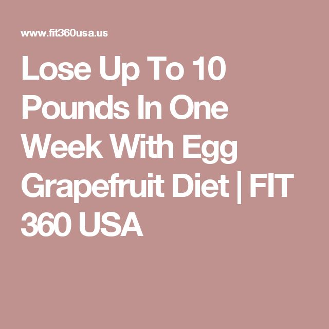 Lose Up To 10 Pounds In One Week With Egg Grapefruit Diet | FIT 360 USA