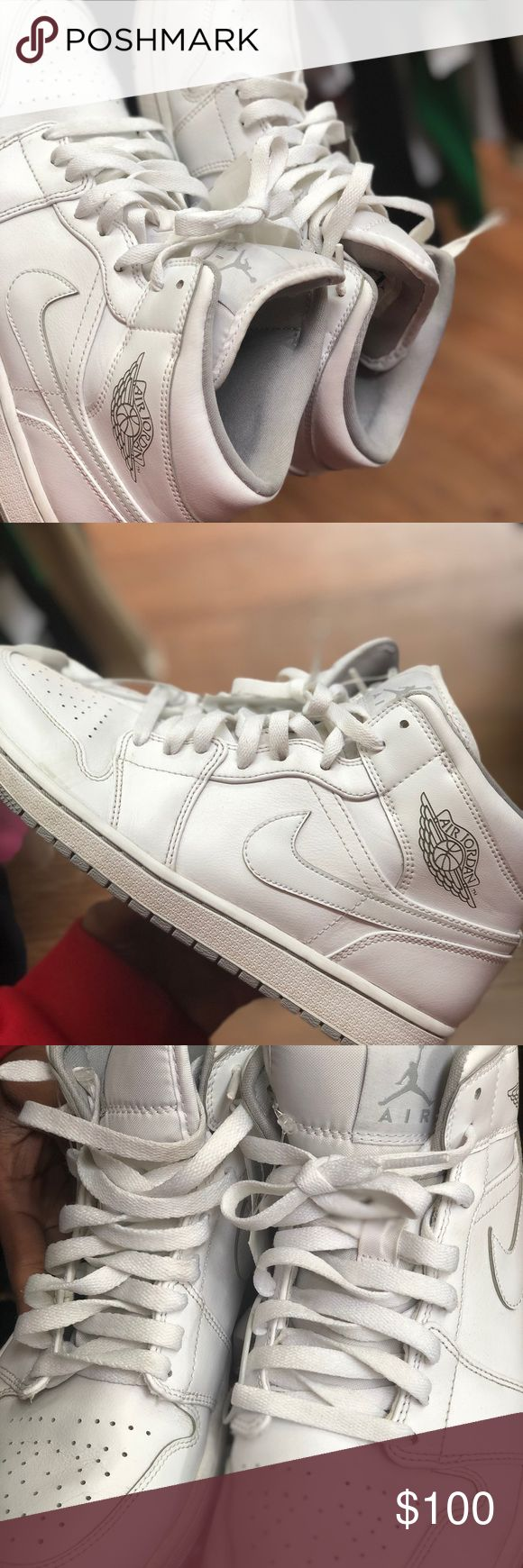 Jordan's size 9.5 All white Jordan 1s 9.5 Jordan Shoes Sneakers