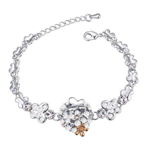 $9,95 Bridal butterfly Swarovski crystal bracelet Yohanna Jewelry Wholesale. BEST PRICE: Directly in the jewelry factory. VAT-free shopping: Available, partners based in the European Union, only applies to EU tax identification number (UID). Exclusive design SWAROVSKI crystals and AAA Zircon crystal jewelry and men's stainless steel jewelry and high-quality stainless steel jewelry for couples sell in bulk to resellers! Please contact us.