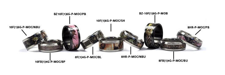 Fable Designs Mossy Oak Camouflage Bands