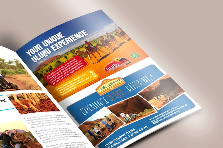 Published! A full page advert design for Uluru Camel Tours and Uluru Segway Tours, featuring in Jetstar Australia's magazine.  http://woof.media/2lN9Xmp
