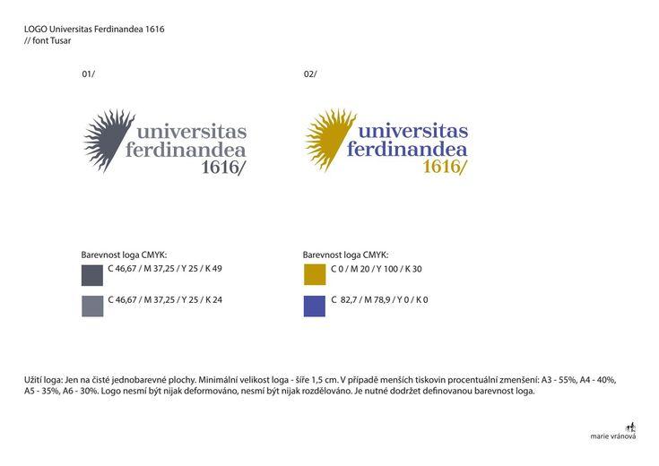 Logo universitas ferdinandea 1616 for National Library in czech Republic