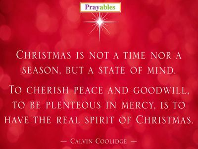 Lord, Place The Spirit Of Christmas In The Hearts And Minds Of All.