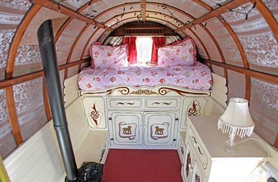 Hill Side Gypsy Caravan Holidays Cleehill, Ludlow, Shropshire, UK, England. Glamping. Gypsy Caravan. Outdoors. Glamping Holiday.