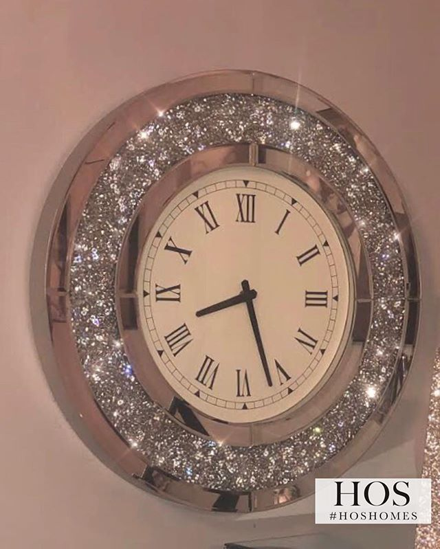 Diamond Crush Circular Wall Clock Now In The Sale At Only 89 99 Shop Now At Www Hoshome Com Wallclock Furnit Mirror Wall Clock Clock Wall Decor Wall Clock