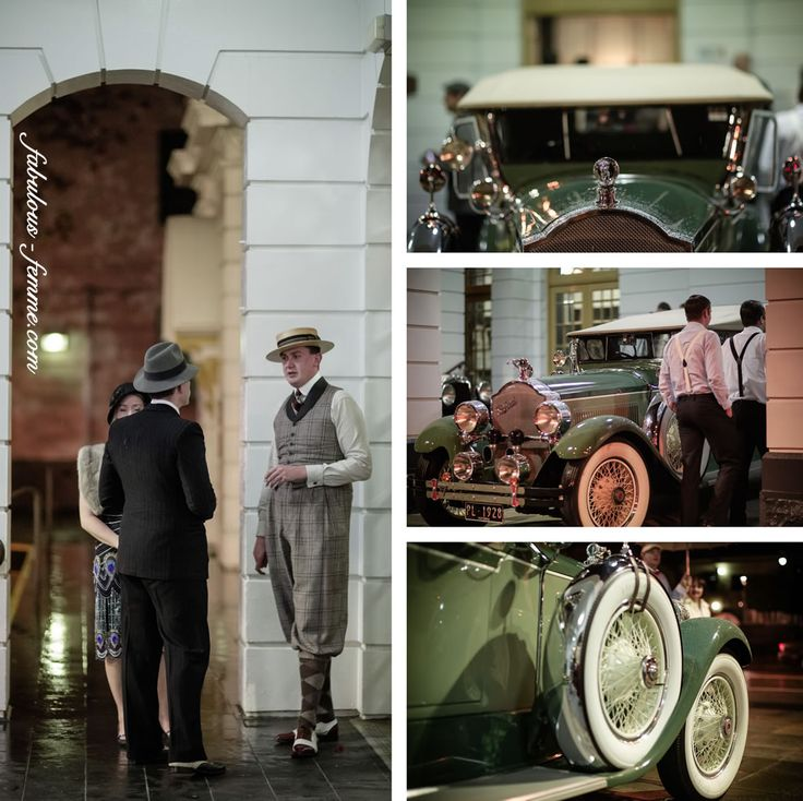 vintage cars - 20s style for the great gatsby in Melbourne at the Malvern Town Hall - Event Photography