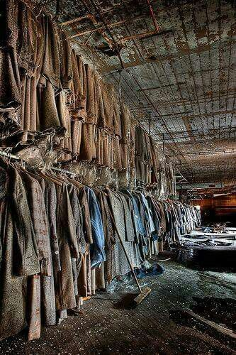 Abandoned clothes factory.