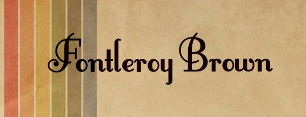 Fontleroy Brown - Font