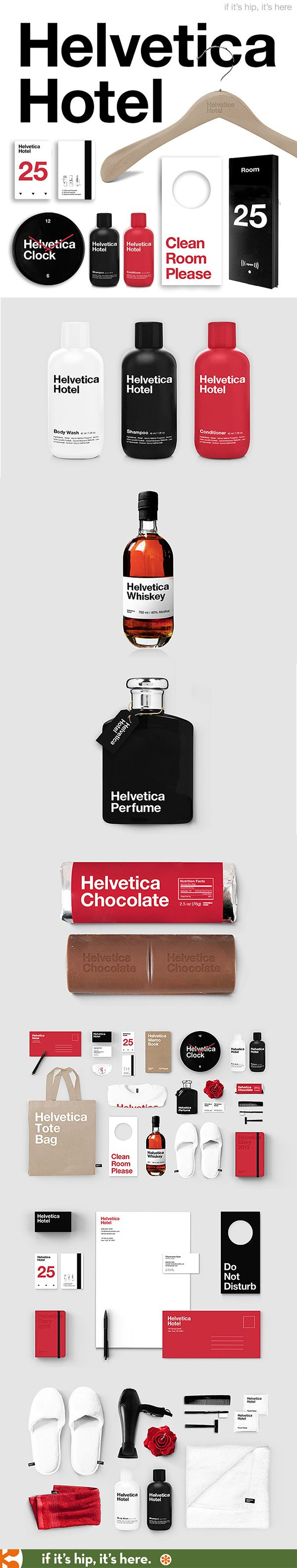 Branding and Package design for the fictional Helvetica Hotel by Albert Son. (I know I don't usually post concepts, but I couldn't ignore this one).