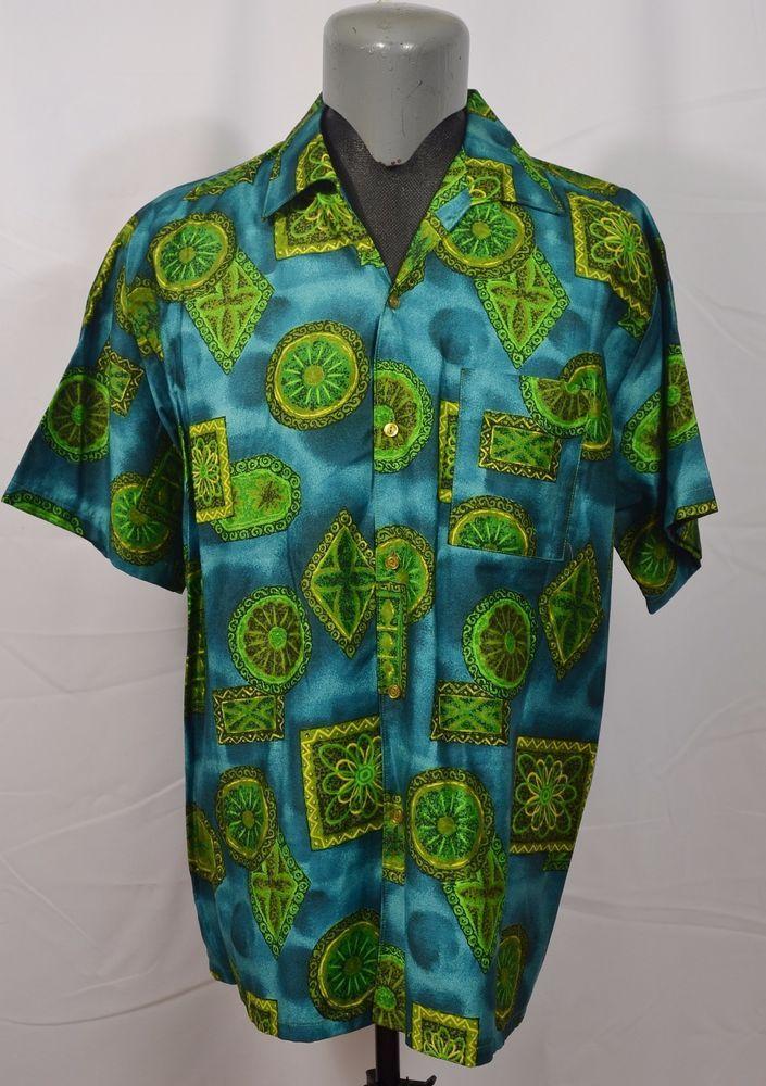 VTG Go Barefoot Hawaii Aloha Hawaiian Shirt XL 1960's 60's 50's 1950's Made in #GoBarefoot #Hawaiian