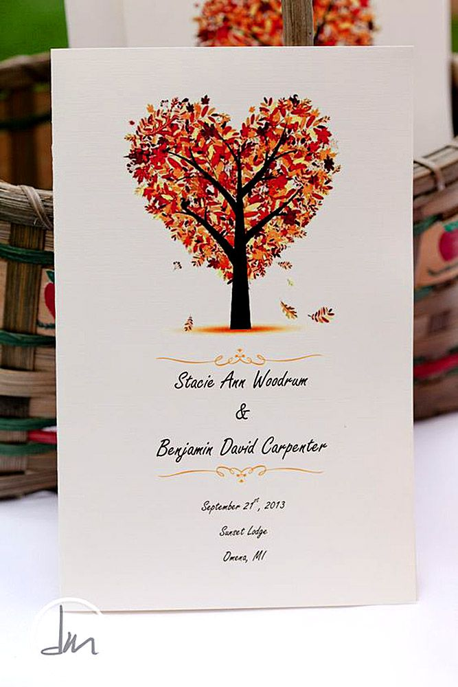 Fall Wedding Invitations With Brilliant Colors Of Autumn ❤ See more: http://www.weddingforward.com/fall-wedding-invitations/ #wedding #invitations
