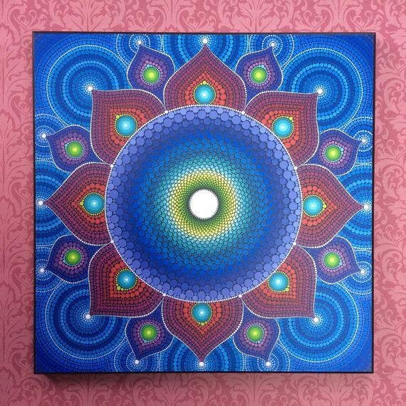 Colores impresión laminada en madera loto flor por ElspethMcLean