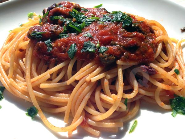 San Giovannina Spagehtti By Coco de Mama  Check out full recipe of the dish by going to our product product page under the Recipe tab: http://www.gourmetimportshop.com/Ariosto-Tomato-Based-Pasta-Sauce-Seasoning-p/ar01072.htm