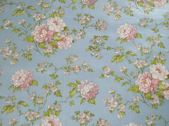 Vintage french wallpaper pink roses period paper projects for Old french wallpaper