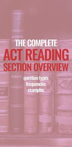 The Complete ACT Reading Section Overview: Question Types ...
