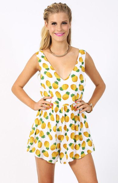 Pineapple clothing is so in. Need me this Pineapple Crush Playsuit #beginningboutique