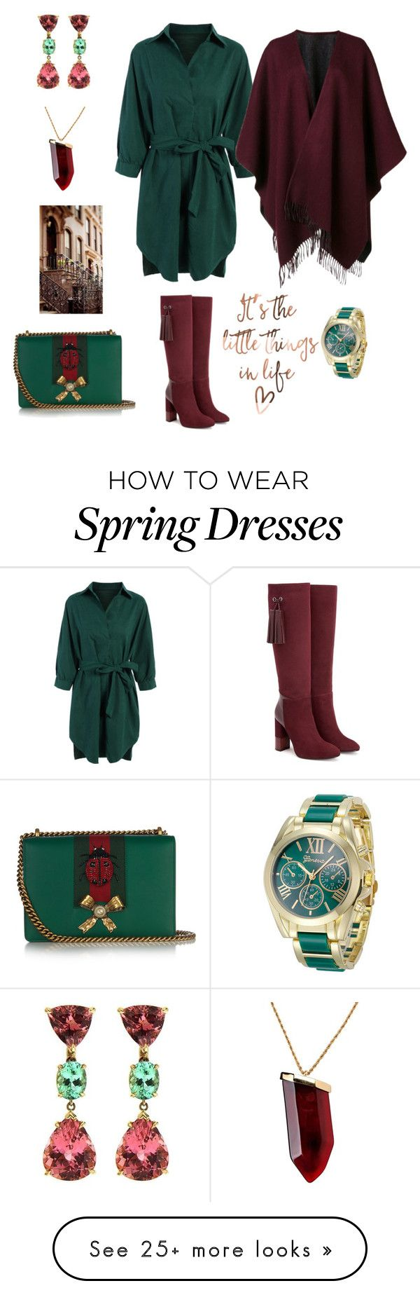 """It's the Little Things"" by kikikoji on Polyvore featuring Aquatalia by Marvin K., rag & bone, Gucci, Kenneth Jay Lane and Valentin Magro"