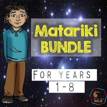 Matariki Bundle for New Zealand Classrooms. Great tool for Bicultural New Zealand.NEW TO TPT FOR 2016Contains 3 resources: Matariki resource pack  50 pages of resources for children from years 0-8 including reading comprehensions, art activities, games and moreMatariki Challenge cards for years 5-814 activities for independent research work for your senior primary students.