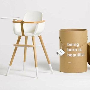 MICUNA - OVO Design High Chair: Can any other highchair be called stunning? Added bonus, the white parts of the leg detach and it becomes a great children's desk chair later
