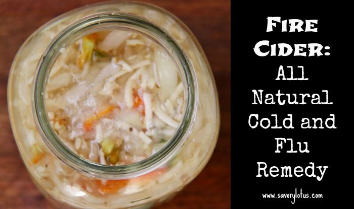 Fire Cider:  All Natural Cold and Flu Remedy