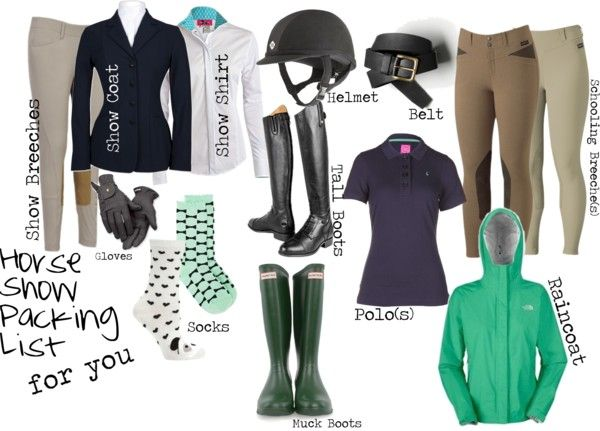 """""""Horse Show Packing List"""" by high-standards on Polyvore"""