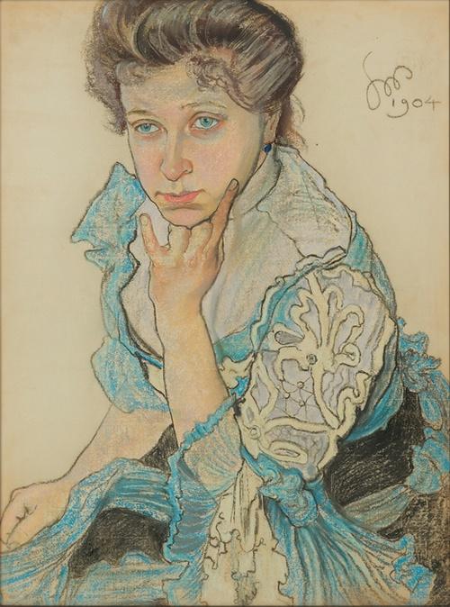 Stanislaw Wyspianski - Portrait of Leontyna Sternbach, 1904
