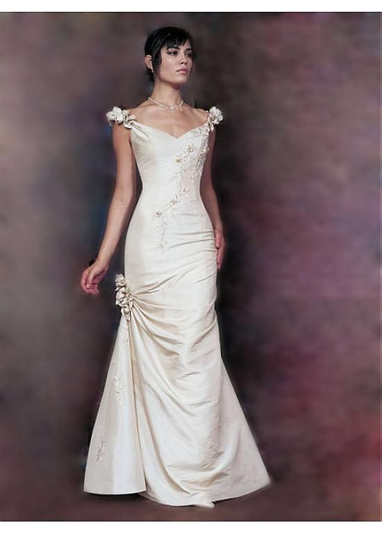 The White Satin Evening Gown