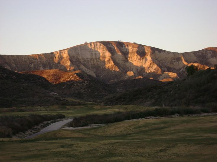 Simi Valley, CA : Sunset and White Face taken on Lost Canyon's Golf Course