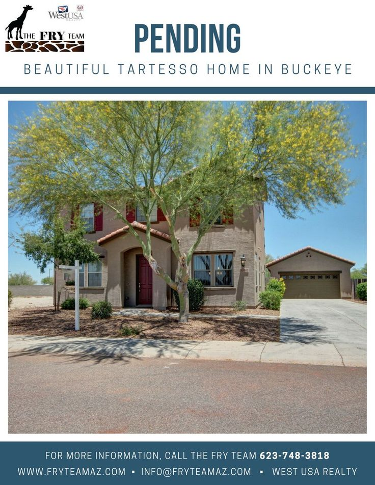 """We are now PENDING on this """"Beautiful Tartesso Home in Buckeye""""     If you are looking to sell or buy a home, let The Fry Team make it simple for you... CALL 623-748-3818 or visit us at www.FryTeamAZ.com for more information.     #Pending #Residential #HomeForSale #WhittonAvenue #Buckeye #AZ #RealEstate #TheFryTeam #HomeBuying #HomeSelling #WestUSARealty"""