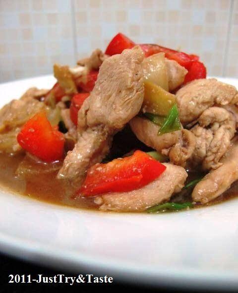 Tumis Ayam, Bawang Bombay, dan Paprika