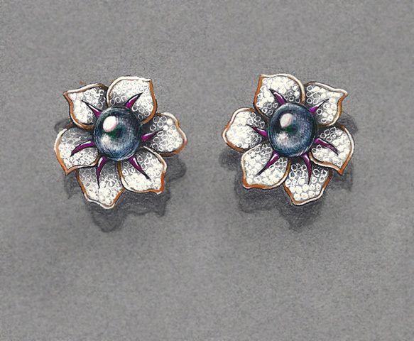 Jewelry Designs and Renderings by James Schraeder, via Behance