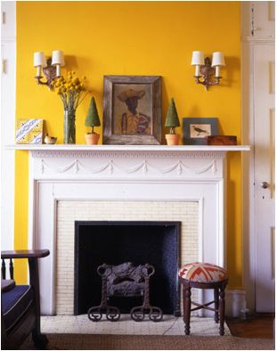 Best Fireplace Interiors Yellow Images On Pinterest