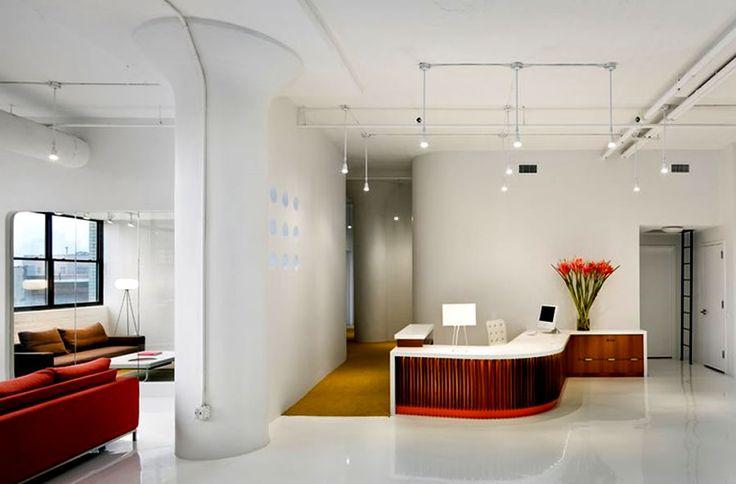 Industrial interior design commercial office interior for Commercial interior design nyc