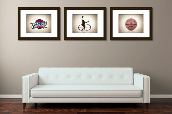 Discount set of 3 Cleveland Cavaliers photo print,boys room decor,kids room decor,Cleveland decor,basketball decor,Cleveland Cavaliers