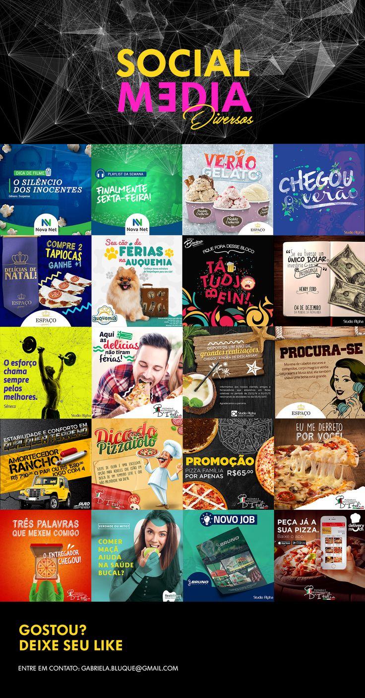 Social Media | Mídias Sociais - Direção de Arte on Behance