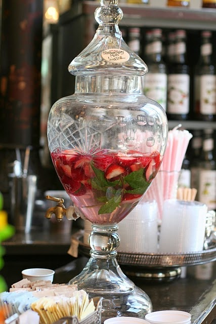 strawberry mint water @ The Paris Market (via Simple Thoughts}