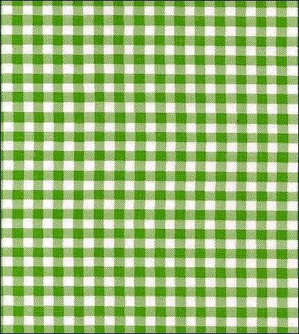 Slightly Imperfect Round Oilcloth Tablecloth In Gingham Lime