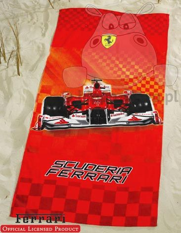 Ferrari race - beach towel with Ferrari blid