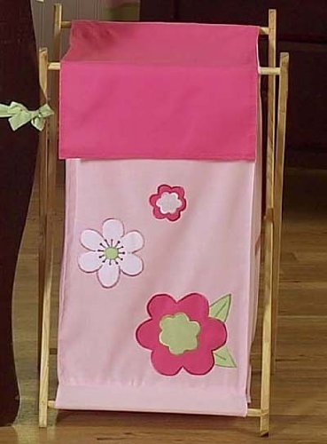 Kids Laundry Hamper For The Pink And Green Flower