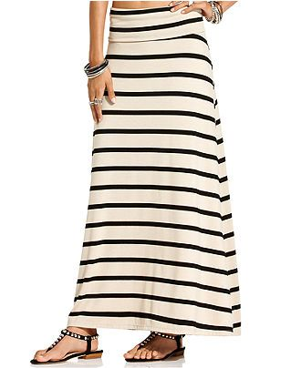 # 8 American Rag Juniors Skirt, Striped Foldover Maxi - Juniors Skirts - Macy's xs
