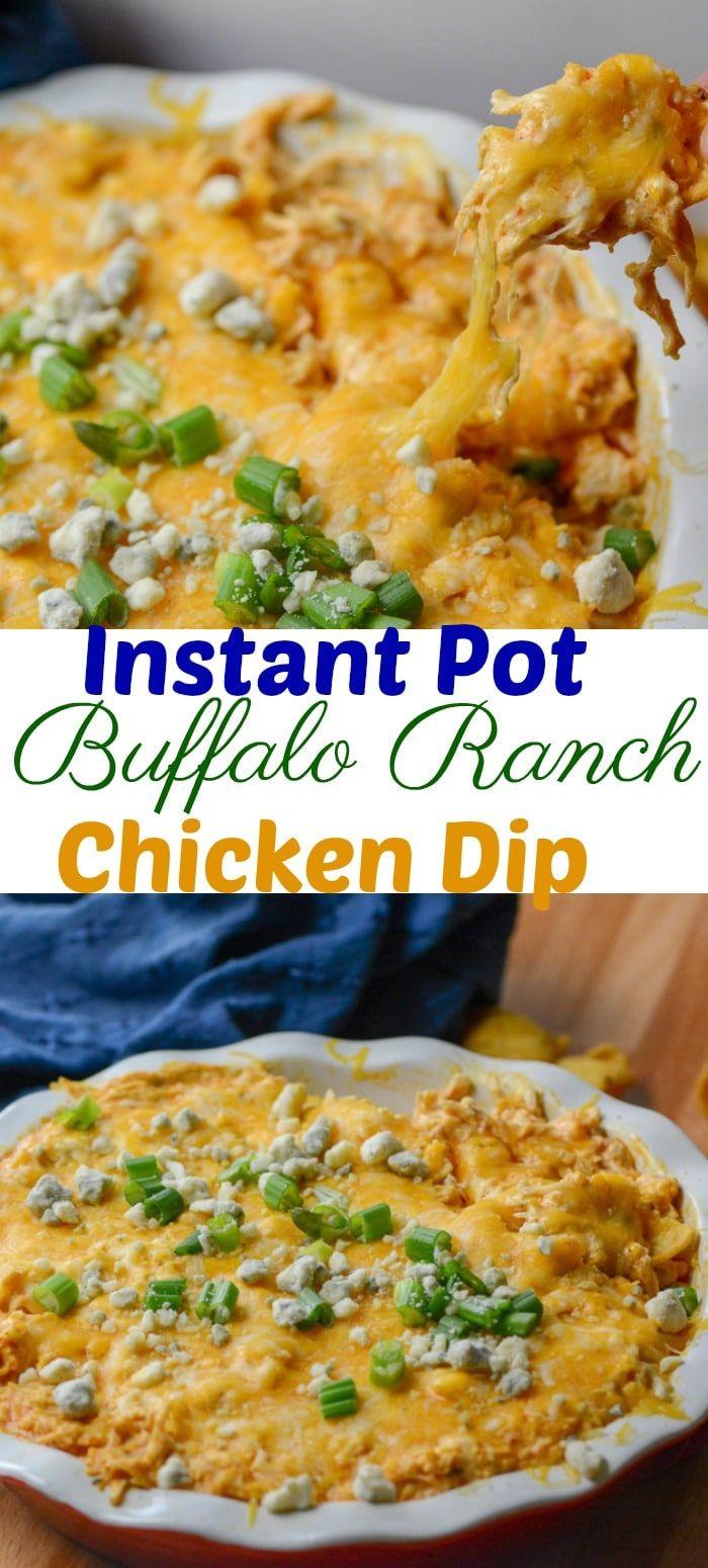 Instant Pot Buffalo Ranch Chicken Dip