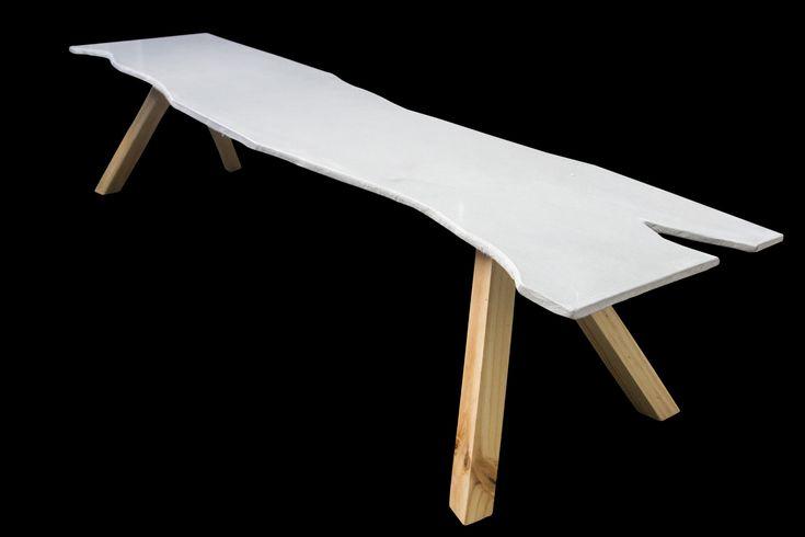 Concrete top bench