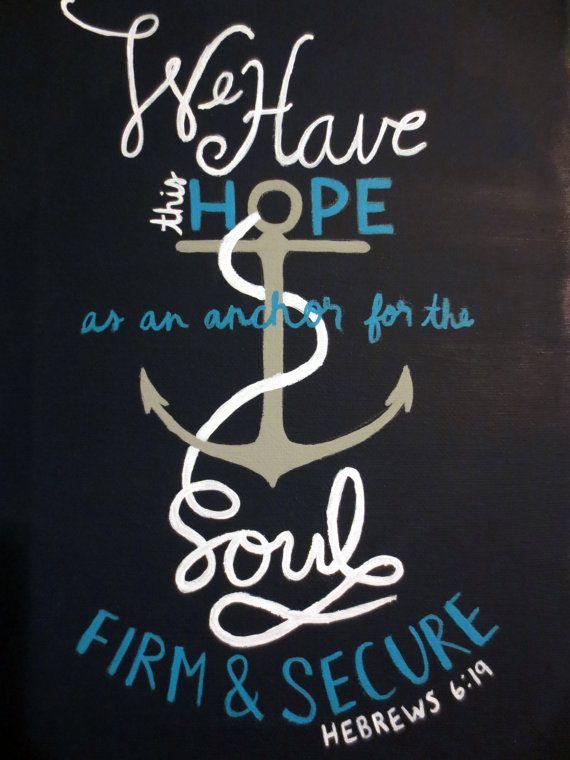 Hebrews 619 Anchor Painting by PaintedPeachStudio on Etsy